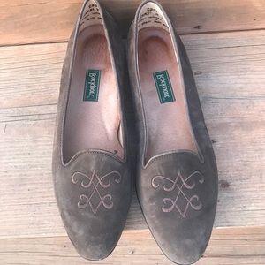 {Rockport} size 8 slip on suede shoes